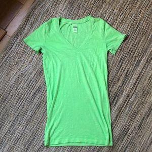 PINK women's bright green T-shirt